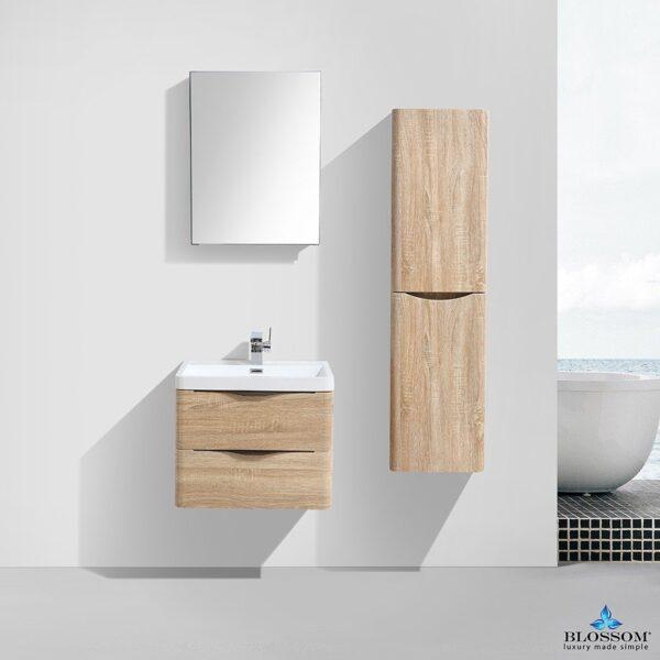 Blossom MADRID 24 Inch Color White Oak Floating Bathroom Cabinet