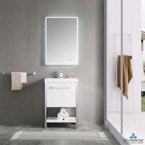 Blossom RIGA 24 Inch Modern Bathroom Cabinet Color Glossy White