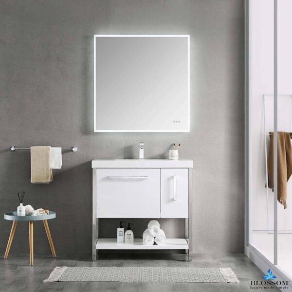 Blossom RIGA 36 Inch Bathroom Vanity Color Glossy White