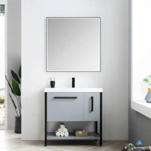 Blossom RIGA 36-Inch Bathroom Vanity Metal Grey