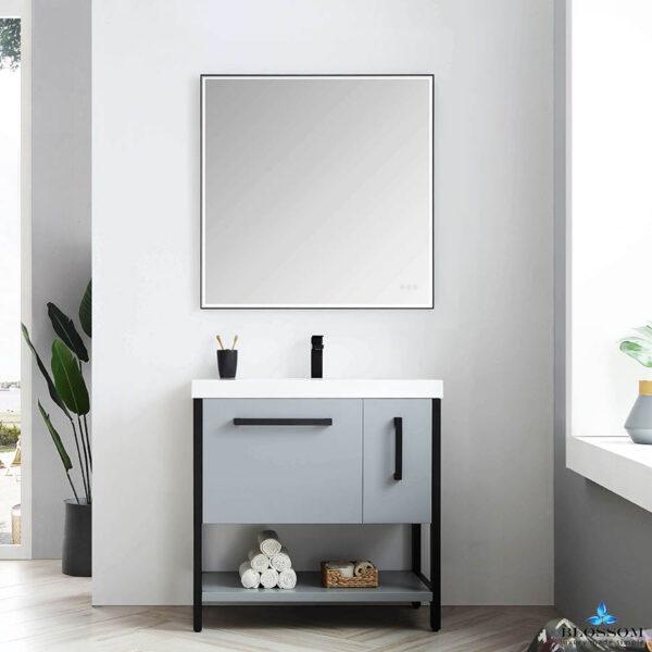 Blossom RIGA 36-Inch Bathroom Vanity Metal Grey