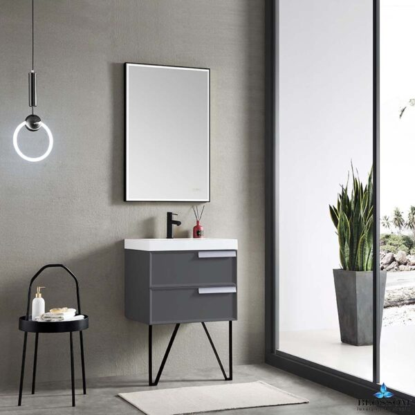 Blossom SOFIA 24 Inch Floating  Bathroom Vanity Color Metal Grey