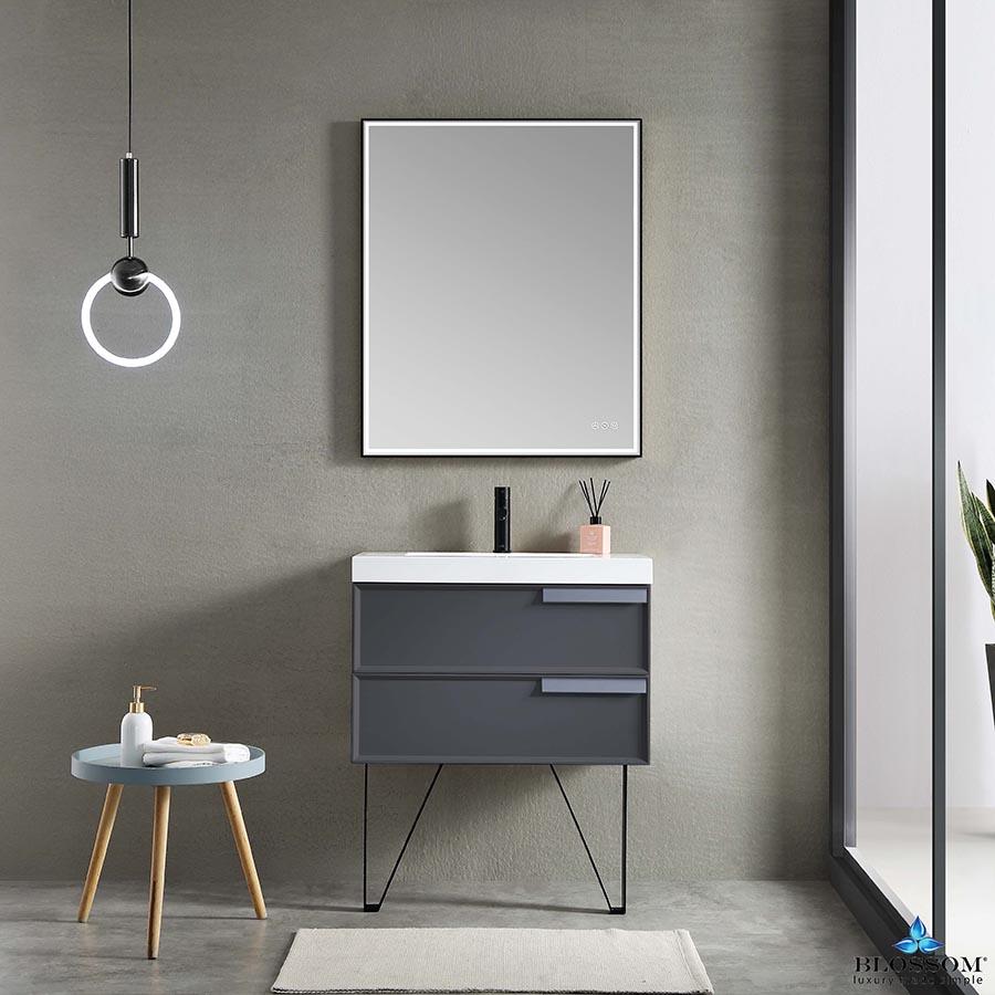 Blossom SOFIA 30 Inch Wall Mount Bathroom Vanity Color Matte Grey