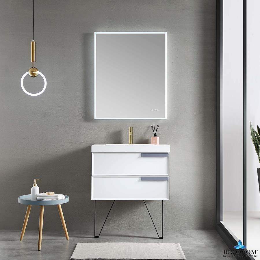 Blossom Sofia 30 Inch Floating Bathroom Vanity Color Matte White