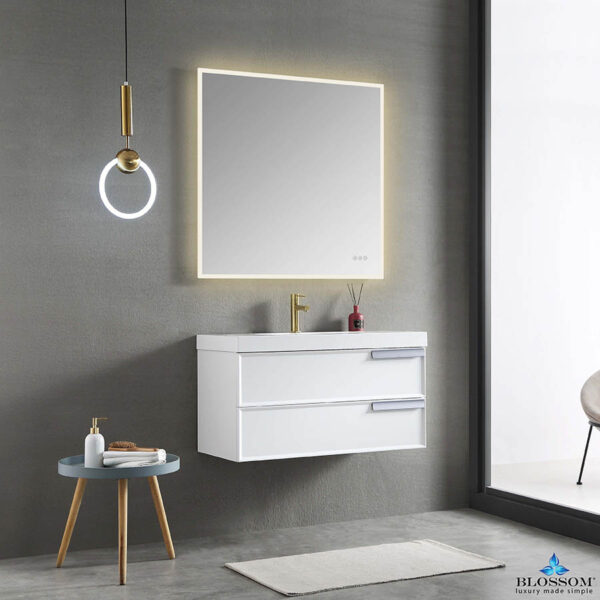 Blossom SOFIA 36 Inch Floating Bathroom Vanity Color Matte White