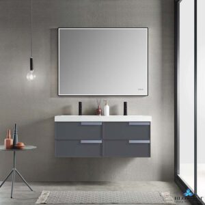 Blossom SOFIA 48 Inch Floating Double Bathroom Vanity Color Matte Grey