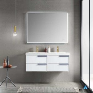Blossom SOFIA 48 Inch Floating Double Bathroom Vanity Color Matte White