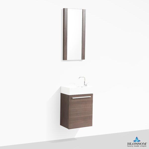 Blossom Vanity ✔️Colmar 18 inch Color Grey Oak With Mirror
