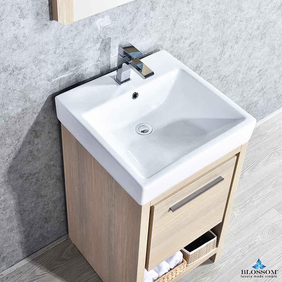 Blossom Milan 20 Inch Bathroom Vanity Color Briccole Oak