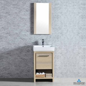 Blossom Vanity 20 Inch ✔️ MILAN Bathroom Cabinet Color Briccole Oak