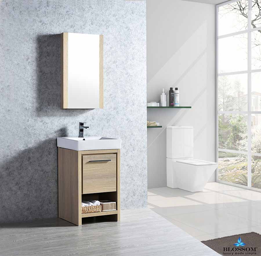 Blossom Milan ️20 Inch Bathroom Vanity Color Briccole Oak