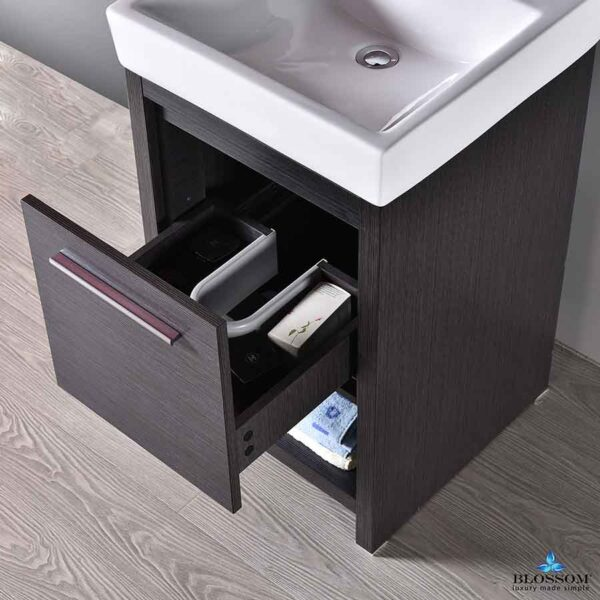 Blossom Vanity 20-Inch ✔️ MILAN Bathroom Cabinet Color Glossy White
