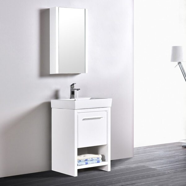 Blossom Vanity 20 Inch ✔️ MILAN Bathroom Cabinet Color Glossy White