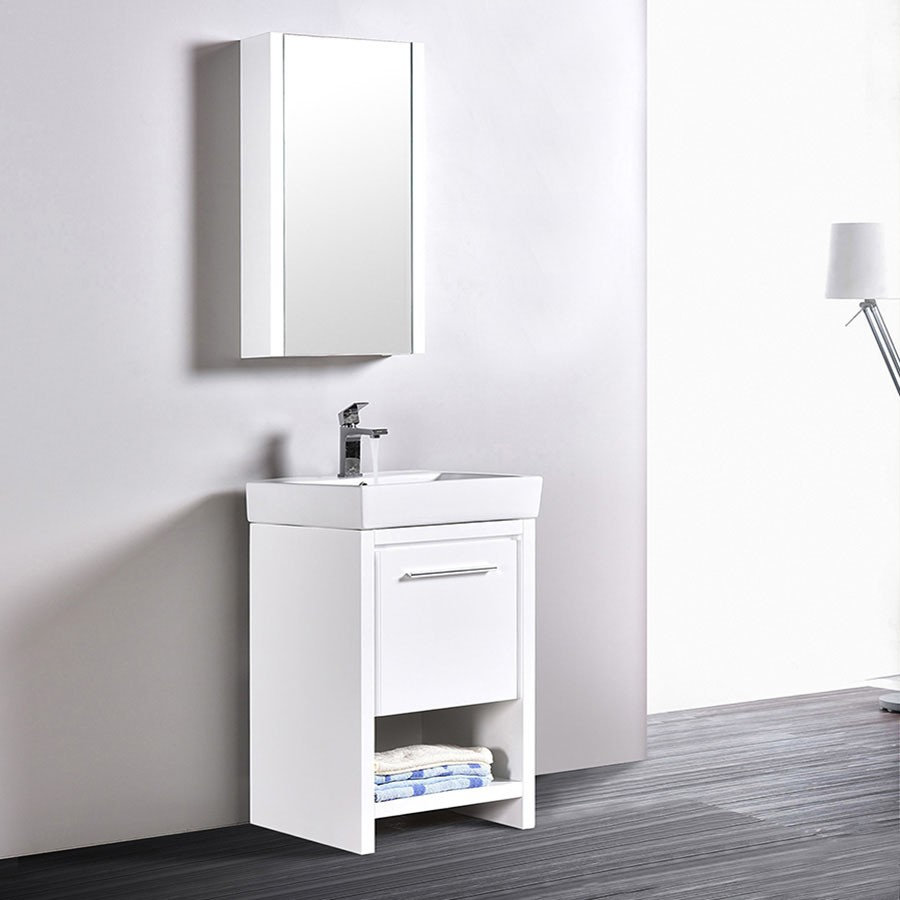 Blossom Vanity Milan 20 Inch Bathroom Cabinet Color Glossy White