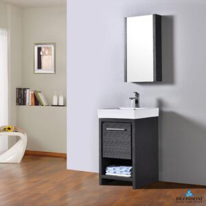 Blossom Vanity 20 Inch ✔️ MILAN Bathroom Cabinet Color Silver Grey