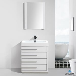 Blossom Vanity Barcelona 30 inch Color Glossy White