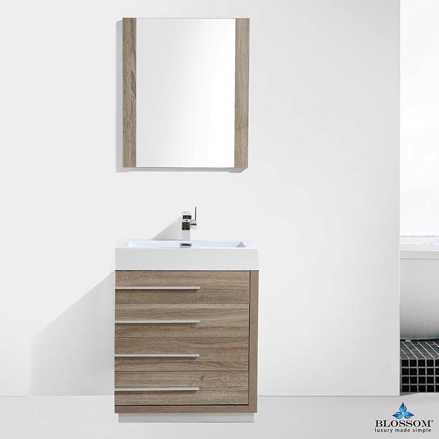 Blossom Vanity Barcelona 30 inch Color Grey Oak   New Bathroom Style
