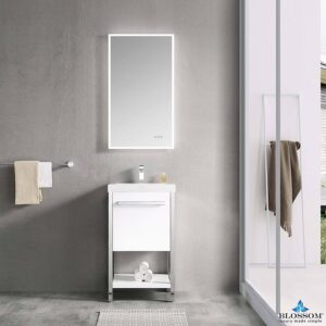 Blossom Vanity ⬜️ RIGA 20-Inch Color Cabinet-Glossy White