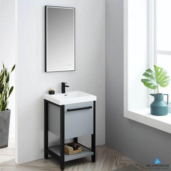 Blossom Vanity ☑️ RIGA 20 Inch Cabinet Color Metal Grey