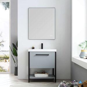 Blossom Vanity RIGA 30 Inch Color Cabinet Metal Grey