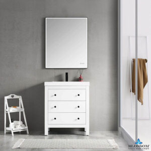 Blossom Vanity YORK 30 Inch Color Matte White Acrylic Sink