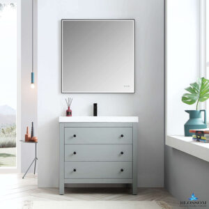 Blossom Vanity YORK 36 Inch Color Matte Grey-Acrylic Sink