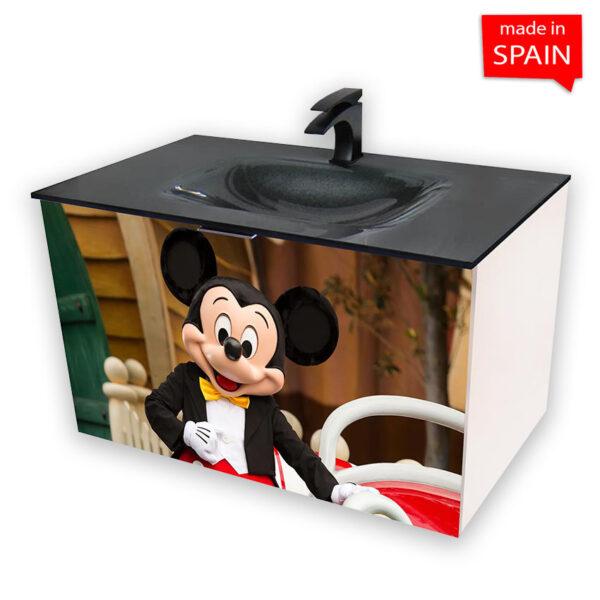 Socimobel Mickey Mouse 36 inch Wall Mount Bathroom Vanity