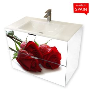 Socimobel ROSE 36 inch Wall Mount Bathroom Vanity Glass Sink _