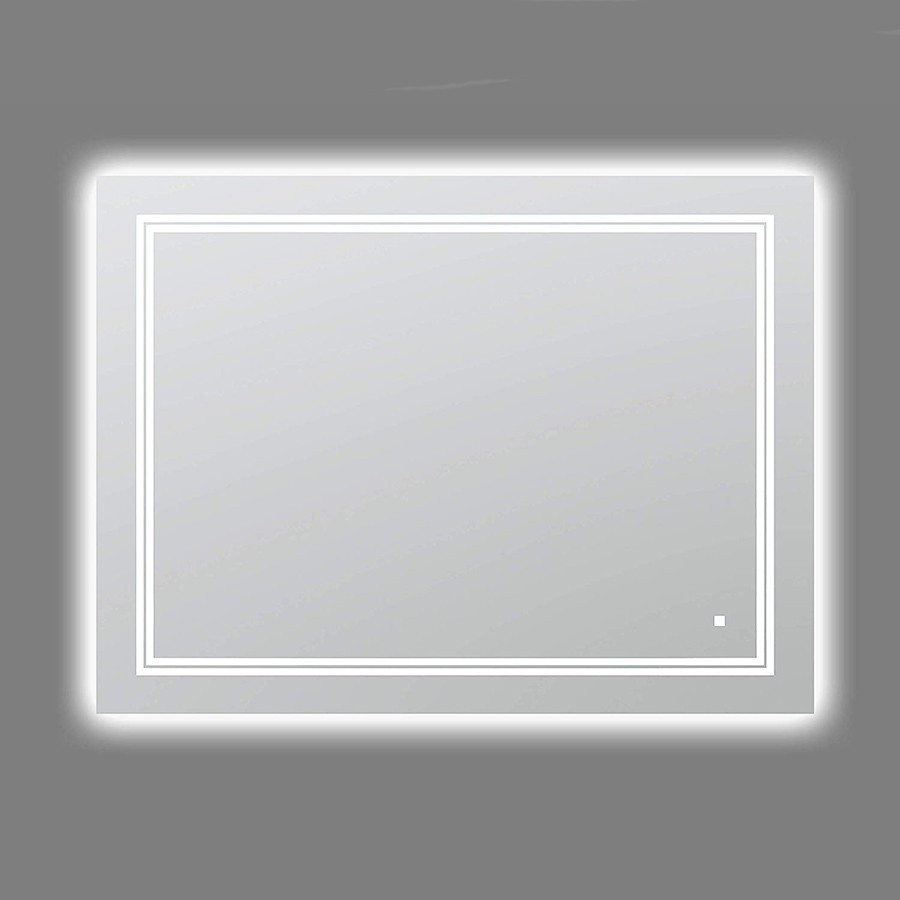Aquadom Soho 48 x 36 Inch Ultra-Slim Led Light Mirror With Dimmer And Defogger