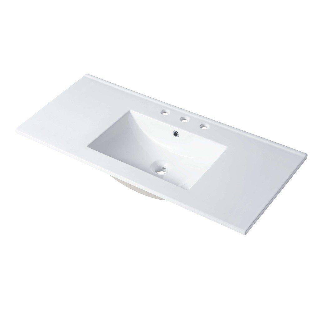 48 x 18 Inch Ceramic Sink Three Holes 8 Inch
