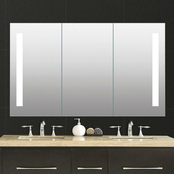 Led medicine cabinet mirror