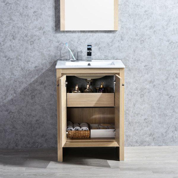 Blossom Milan 24 Inch Bathroom Vanity Color Briccole Oak