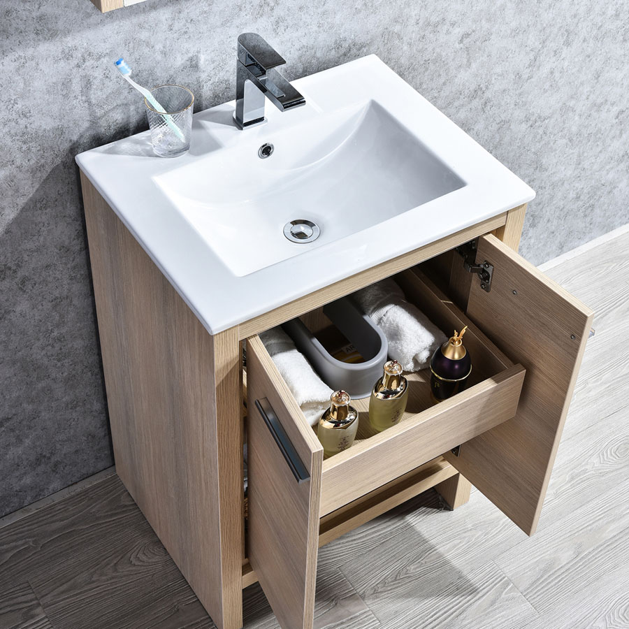 Blossom Milan 24 Inch Bathroom Vanity Color Briccole Oak