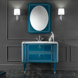 Mia Italia 36 Inch Petit 07 Finish Blue Unique Bathroom Vanity