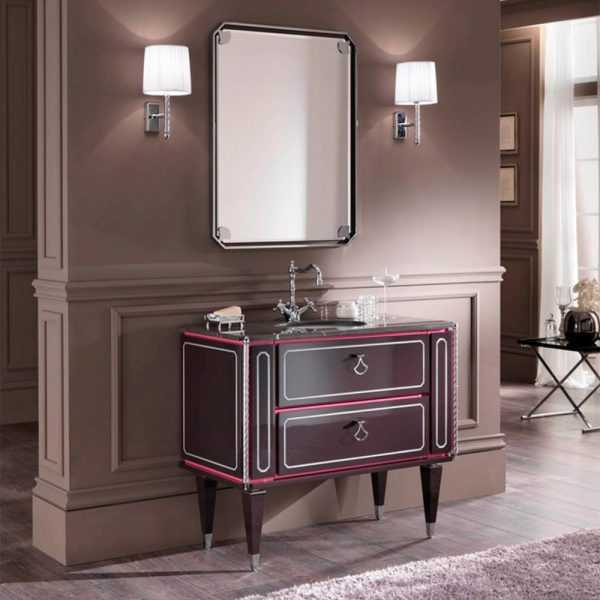 Mia Italia 40 Inch Petit 05 Unique Bathroom Vanity Color Carcass Matte Pink