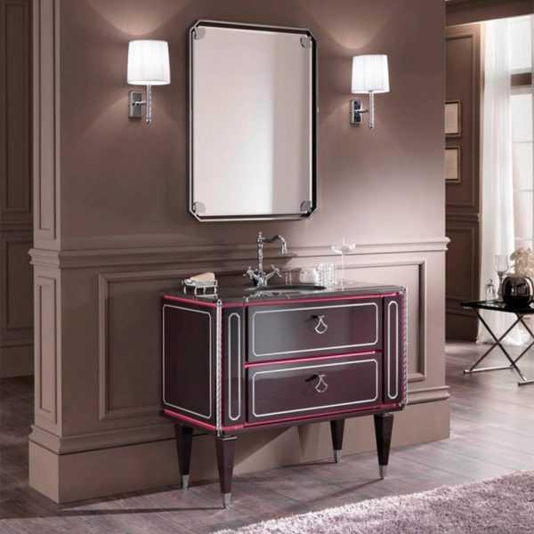 Mia Italia 40 Inch Petit 05 Unique Bathroom Vanity Color Carcass Matte Pink