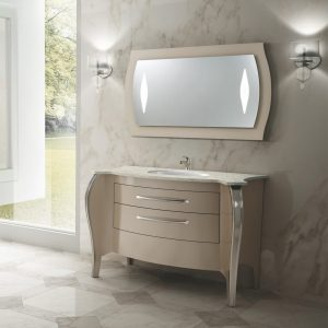Mia Italia 48 Inch Belvedere 03 Unique Bathroom Vanity Finish Glossy Turtledove