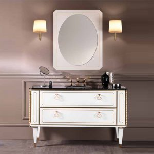 Mia Italia 48 Inch Petit 01 Unique Bathroom Vanity Color Matte White