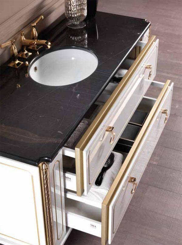 Mia Italia 48 Inch Petit 01 Unique Bathroom Vanity Color Matte White