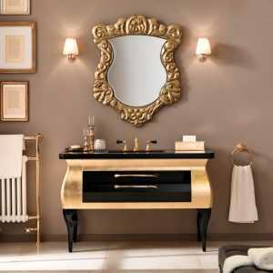 Mia Italia 51 Inch Diva 09 Unique Bathroom Vanity Finish Glossy Gold And Black