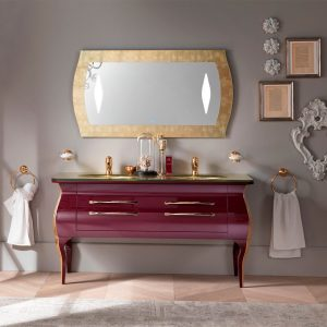 Mia Italia 60 Inch Diva 07 Unique Double Bathroom Vanity Finish Lacca Red