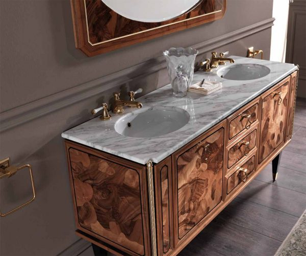 Mia Italia 63 inch Model Petit 08 Double Bathroom Vanity