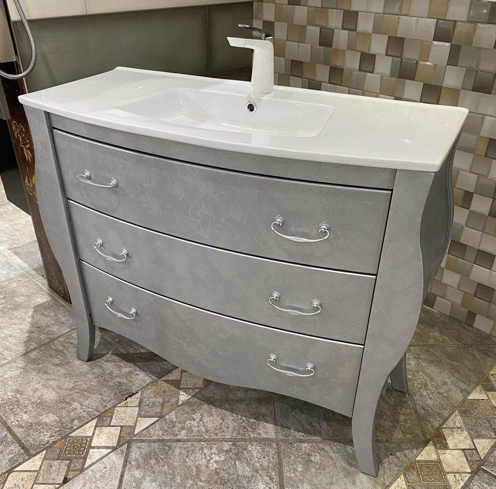 Socimobel Estrella 40 inch bathroom vanity Silver