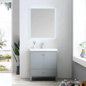 Blossom LYON 30 Inch Color Metal Grey Modern Bathroom Vanity