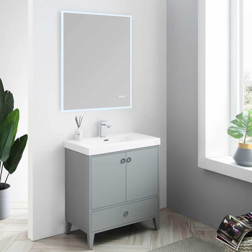 Blossom LYON 30 Inch Color Metal Grey Modern Bathroom Vanity
