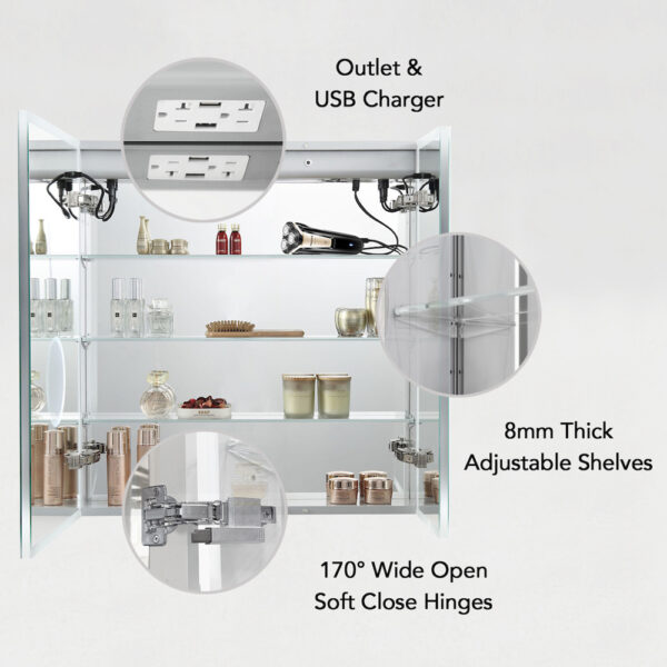Blossom Sirius 30 Inch LED Medicine Cabinet