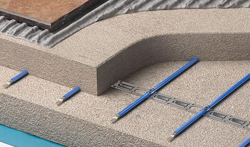 Electric undermount heating floor system