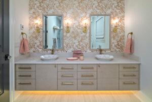 Large 2 sink bathroom vanity