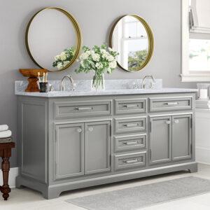 Large double bathroom vanity