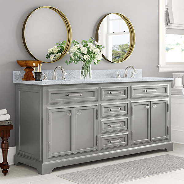 Large double bathroom vanity
